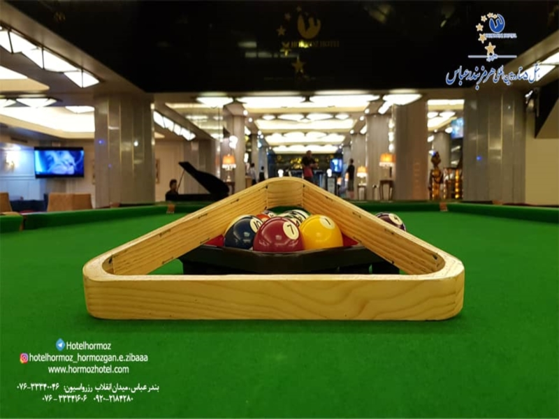 Billiard training for ladies and gentleman at any age at Hormoz Hotel